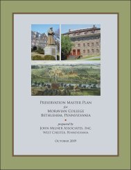 Moravian Preservation Master Plan.indb - Society for College and ...