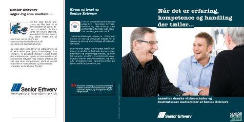 Brochure om Senior Erhverv - Senior Erhverv Danmark
