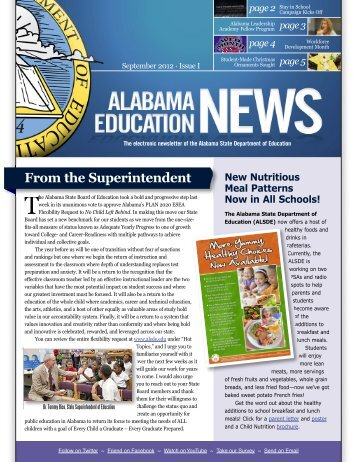 From the Superintendent - Alabama Department of Education