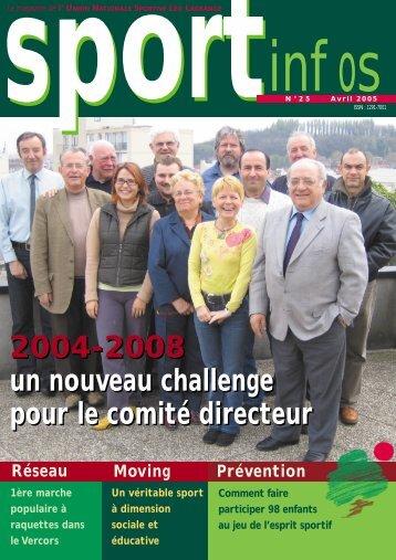 2004-2008 un nouveau challenge pour le comité directeur 2004 ...