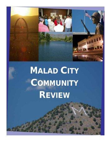 MALAD CITY COMMUNITY REVIEW - Idaho Rural Partnership ...