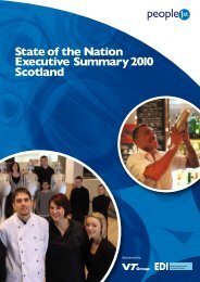 State of the Nation Executive Summary 2010 Scotland - People 1st