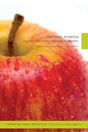 Getting Started in Education Philanthropy: A Workbook to Identify ...
