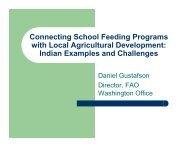 Status of School Feeding in Uganda