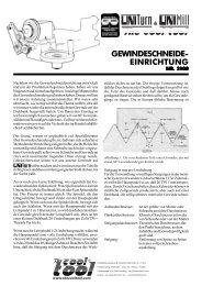 GEWINDESCHNEIDE- EINRICHTUNG - The Cool Tool GmbH