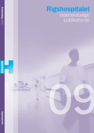 Videnskabelige Publikationer 2009 - Rigshospitalet