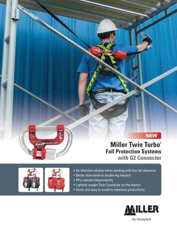 Miller Twin Turbo™ Fall Protection Systems with G2 Connector