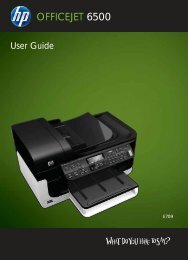 HP Officejet 6500 (E709) All-in-One Series User Guide - Radio Shack