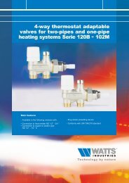 4-way thermostat adaptable valves for two-pipes ... - Watts Industries