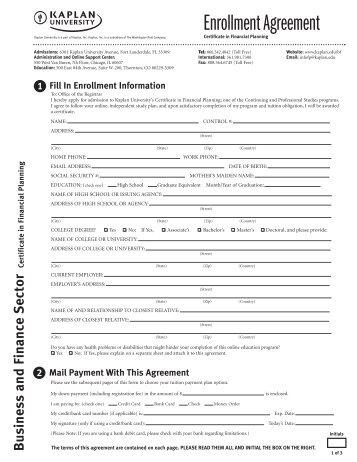 Applicationenrollment Agreement Tutorial Classes Lado