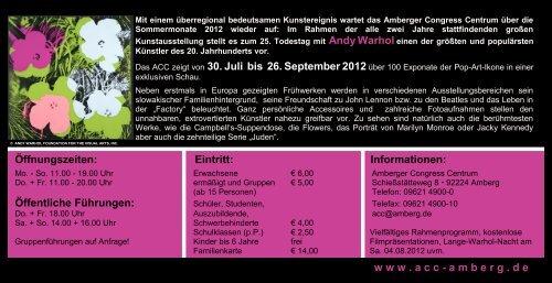 ANDY WARHOL - Stadtmarketing Amberg