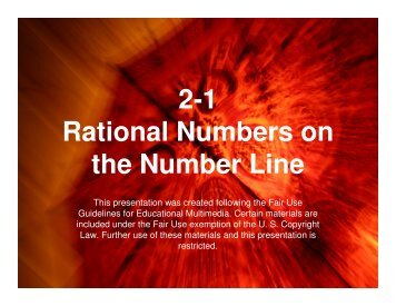 2-1 Rational Numbers on the Number Line - Mona Shores Blogs