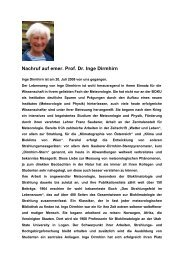 Nachruf auf emer. Prof. Dr. Inge Dirmhirn - Boku