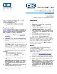 Guia do Usuário OMNIKEY 3121 - HID Global
