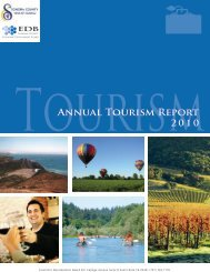 Annual Sonoma County Tourism Report 2010