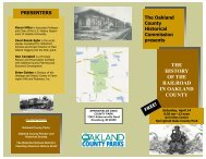 the history of the railroad in oakland county - Destination Oakland
