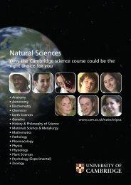 Natural Sciences - Cambridge University Students' Union ...
