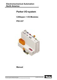 Handbuch CANopen Standard PIO-337 mit Busklemmen, englisch
