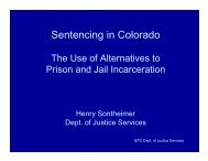 Alternatives to prison - El Paso County