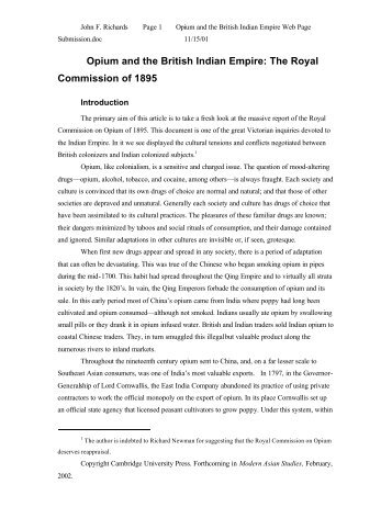 Opium and the British Indian Empire - Drug Policy Alliance
