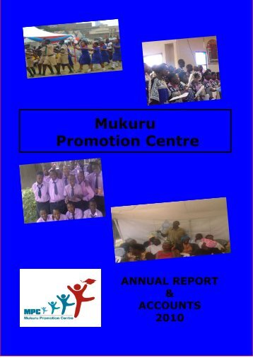Click here to read the Annual Report - Mukuru Promotion Centre