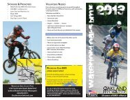 2013 BMX Info and Schedule - Destination Oakland