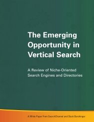 The Emerging Opportunity in Vertical Search - American Business ...