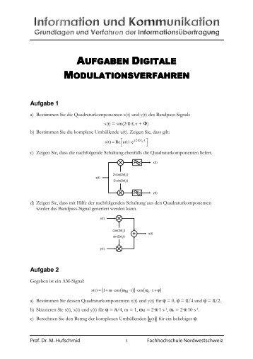 Aufgaben Digitale Modulation