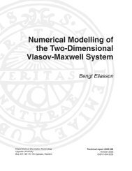 Numerical modelling of the two-dimensional Vlasov-Maxwell system