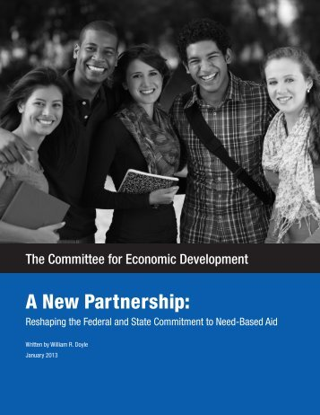 A New Partnership: Reshaping the Federal and State ... - SHEEO