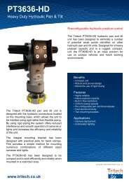 PT3636-HD - Heavy Duty Hydraulic Pan & Tilt - Tritech