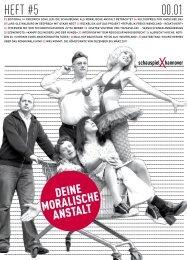 Heft #5 Deine moralische Anstalt - Schauspiel Hannover