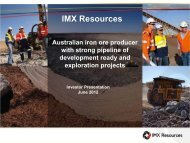 Chairman's Presentation - IMX Resources Limited