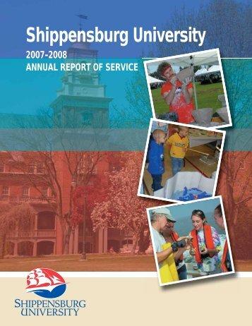 2007-2008 Annual Report of Service - Shippensburg University