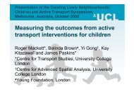 Measuring the outcomes from active transport interventions for ...