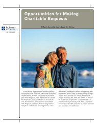Opportunities for Making Charitable Bequests - St. Luke's Health ...