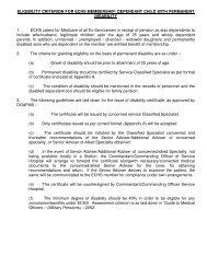 ELIGIBILITY CRITERION FOR ECHS MEMBERSHIP: DEPENDANT ...