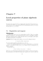 Chapter 7 Local properties of plane algebraic curves - RISC