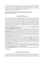Príloha k Všeobecným podmienkam poskytovania ... - Slovak Telekom