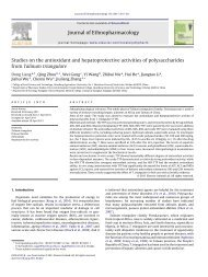 Studies on the antioxidant and hepatoprotective activities of ...