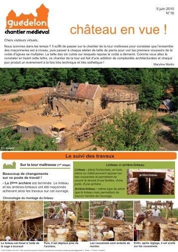 """Château en vue !"" N°16 (PDF - 476 Ko) - Guédelon"
