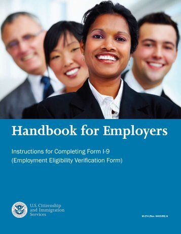 Employer Handbook for completing the I-9 process - National ...