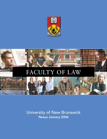 FACULTY OF LAW - University of New Brunswick