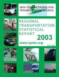 Regional Transportation Statistical Report – Annually - New York ...