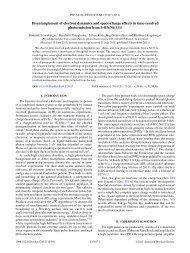 Disentanglement of electron dynamics and space-charge effects in ...