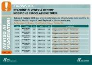 stazione di venezia mestre modifiche circolazione treni 8 ... - Trenitalia