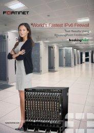 Fortinet - World's Fastest IPv6 Firewall - Espion