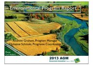 Environmental Program Report - Ontario Soil and Crop Improvement ...