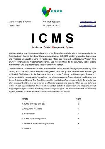 Flyer Pilotprojekt IC-Assessment - Auer Consulting & Partner