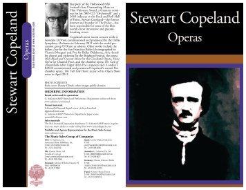 Stewart Copeland - G. Schirmer, Inc.